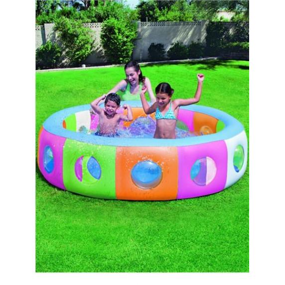 BESTWAY Detský nafukovací bazén okienka