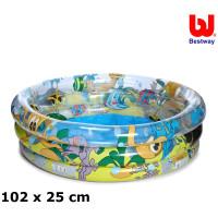 BESTWAY detský bazén Morský zvieratá 102 x 25 cm 51082