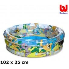 BESTWAY detský bazén Morský zvieratá 102 x 25 cm 51082 Preview