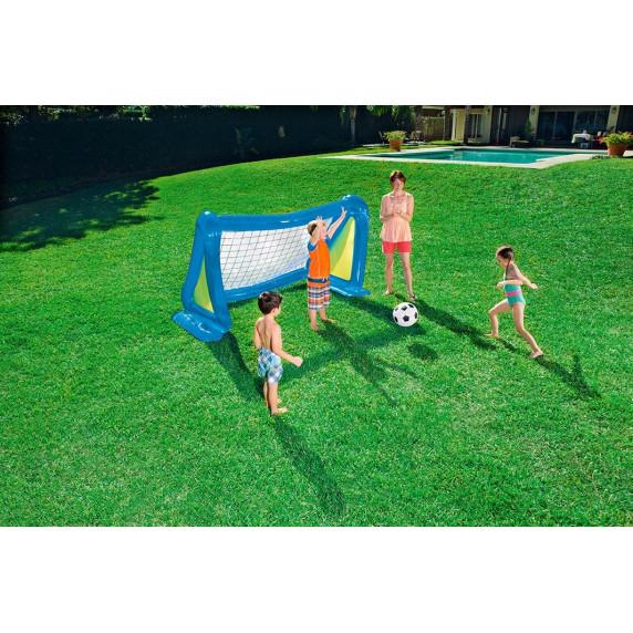 BESTWAY veľká nafukovacia futbalová bránka 254 x 112 x 130 cm 52215