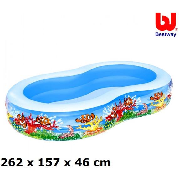 Bazén Bestway 54118 morská lagúna 262x157x46 cm