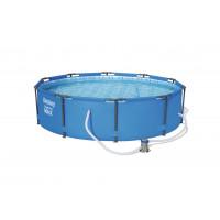 BESTWAY Steel Pro Frame rodinný bazén 305 x 76 cm + kartušová filtrácia 56408