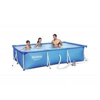 BESTWAY Steel Pro Frame rodinný bazén 300 x 201 x 66 cm + kartušová filtrácia 56411