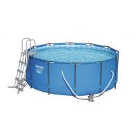 BESTWAY Steel Pro Frame Max rodinný bazén 366 x 122 cm + kartušová filtrácia 56420