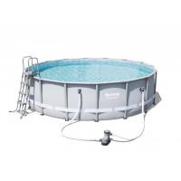 BESTWAY bazén PowerSteel 488x122 6v1 s kartušovou filtráciou 56451