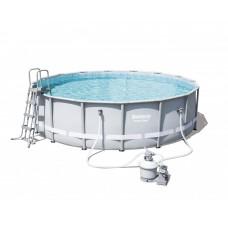 BESTWAY bazén PowerSteel 488x122 s pieskovou filtráciou 56452 Preview