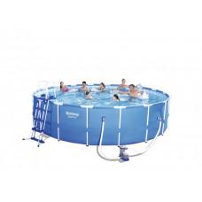 BESTWAY Steel Pro Frame rodinný bazén 549 x 122 cm + kartušová filtrácia a schodíky 56462 Preview