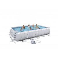BESTWAY bazén PowerSteel 671x366x132 cm  s pieskovou filtráciou 56471