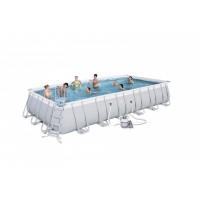 BESTWAY bazén PowerSteel 732x366x132 cm s pieskovou filtráciou 56475