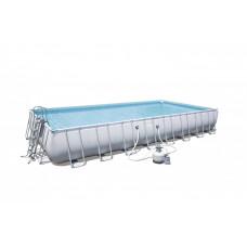 BESTWAY bazén PowerSteel 956x488x132cm s pieskovou filtráciou 56623  Preview