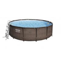 BESTWAY bazén 427x107cm RATTAN s vodným filtrom Flowclear 56664