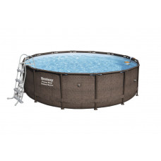BESTWAY Power Steel rodinný bazén RATTAN 427 x 107 cm + vodný filter a schodíky - 56664 Preview