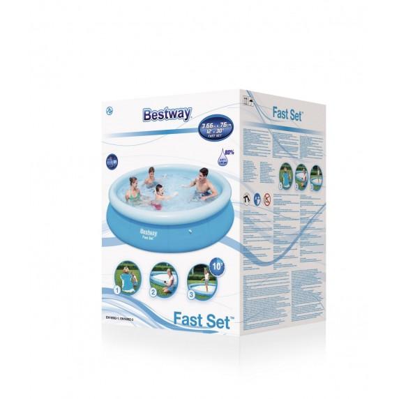 BESTWAY Fast Set samonosný rodinný bazén s kartušovou filtráciou 366 x 76 cm 57274