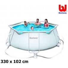 BESTWAY Steel Pro Frame rodinný bazén 330 x 102 cm 56245 + kartušová filtrácia Preview