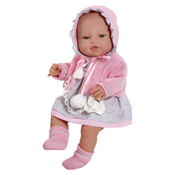 Luxusná detská bábika-bábätko Berbesa Amanda 43 cm