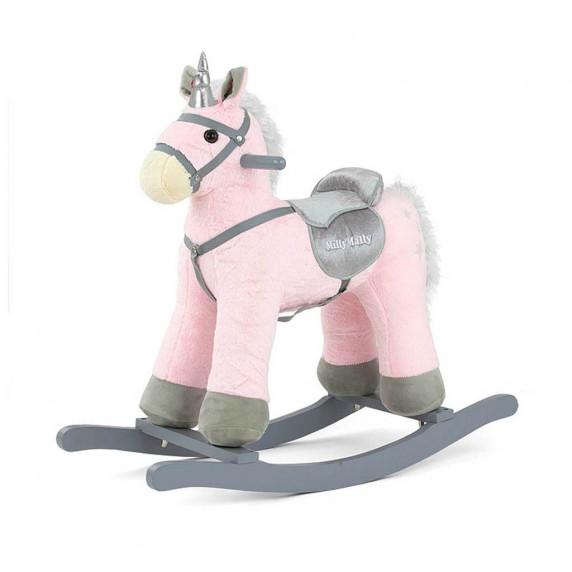 Hojdací koník s melódiou Milly Mally PePe - ružový