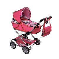 Detský kočík pre bábiky 2v1 New Baby Veronika - ružový