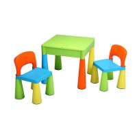 NEW BABY detská sada stolček a dve stoličky - multicolor