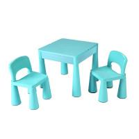 NEW BABY detská sada stolček a dve stoličky - modrá