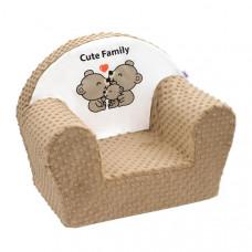 New Baby detské kreslo z Minky Cute Family - Cappuccino Preview