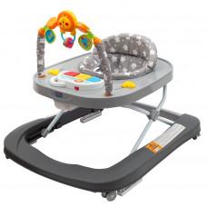 New Baby detské chodítko so silikónovými kolieskami Forest Kingdom - Sivé Preview