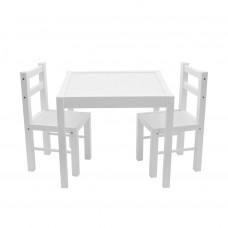 New Baby PRIMA detský drevený stôl so stoličkami - Biely Preview