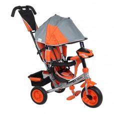 Baby Mix Lux Trike detská trojkolka so svetlami - Sivo/oranžová Preview