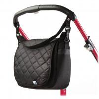 Prešívaná taška na kočík CARETERO - čierna