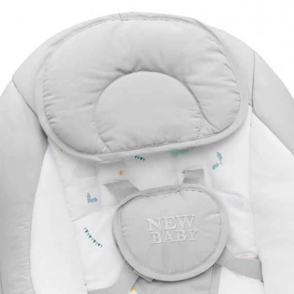 Detské hojdacie lehátko NEW BABY TEDDY - sivé