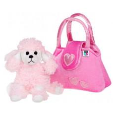 Detská plyšová hračka PlayTo Psík v kabelke ružová Preview