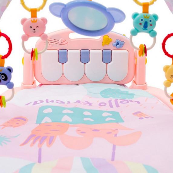 Hracia deka s pianom BAYO - ružová