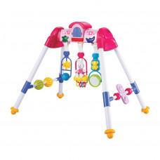 Detská hrajúca edukačná hrazdička BAYO premium - ružová Preview