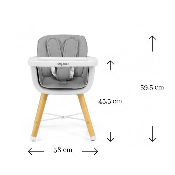 Jedálenská stolička Milly Mally 2v1 Espoo modrá