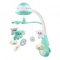 BABY MIX kolotoč nad postieľku so svetelným projektorom - Mätový