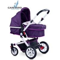 Detský kočík 2v1 CARETERO Compass purple