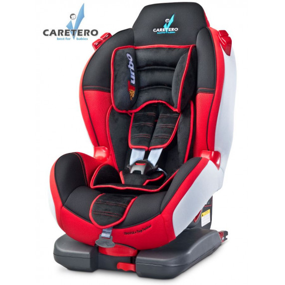 Autosedačka CARETERO Sport TurboFix red 2016