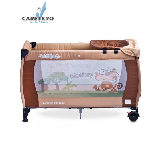 Cestovná postieľka CARETERO Medio brown-beige