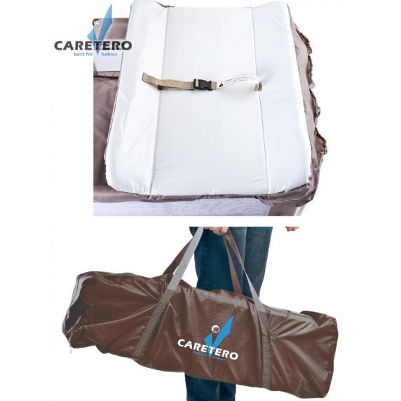 Cestovná postieľka CARETERO Deluxe graphite