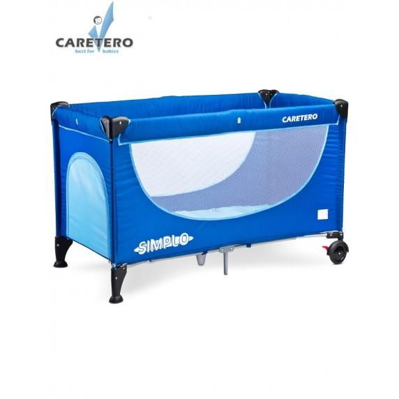 Cestovná postieľka CARETERO Simplo 2016 blue