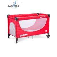 Cestovná postieľka CARETERO Simplo 2016 red