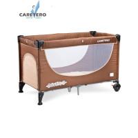 Cestovná postieľka CARETERO Simplo 2016 brown