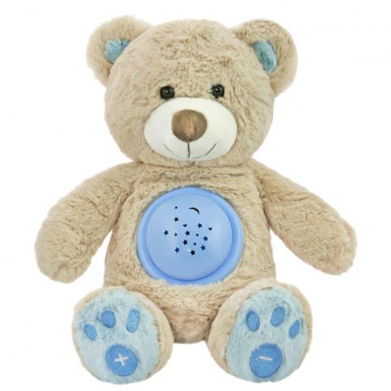 Plyšový medvedík s projektorom Baby Mix modrý