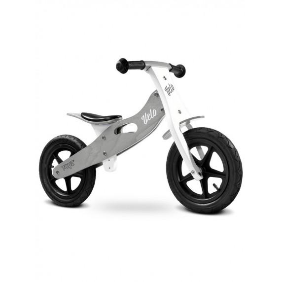 "Detské drevené cykloodrážadlo Toyz Velo 12"" - šedé"