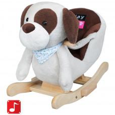 Hojdacia hračka PlayTo psík sivo-hnedý Preview