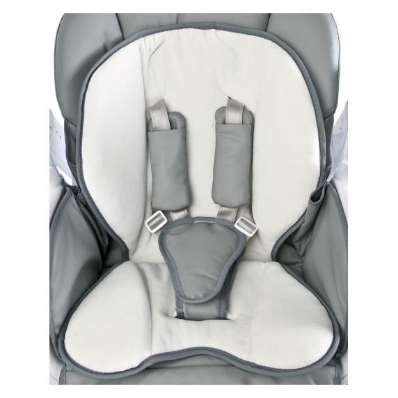 Detská jedálenská stolička 2v1 Caretero Indigo sivá