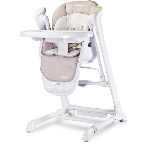 Detská jedálenská stolička 2v1 Caretero Indigo béžová