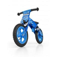 """Detské drevené cykloodrážadlo Milly Mally Flip 12"""" - modré Preview"""