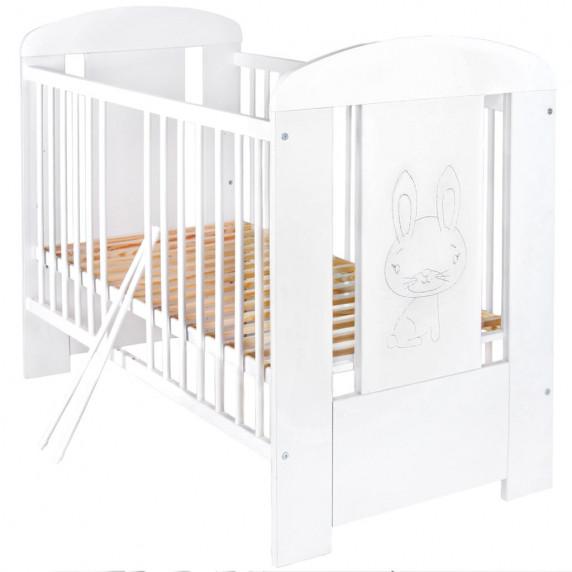 Detská postieľka New Baby Králiček štandard biela