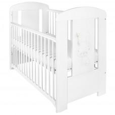 Detská postieľka New Baby Králiček so sťahovacou bočnicou biela Preview