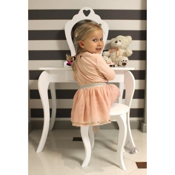 Inlea4Fun Detský toaletný stolík - biely